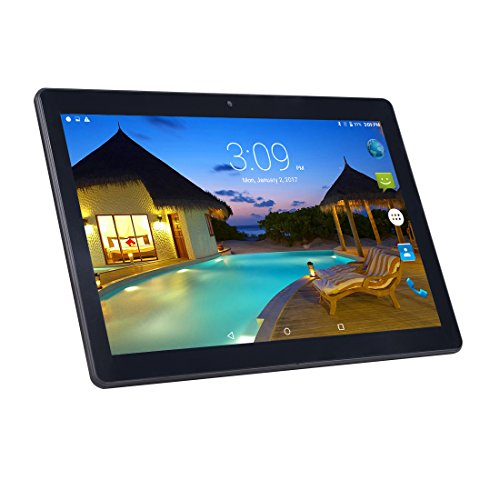 Android Tablet PC 10,1 inch, 1920 * 1200 Full HD IPS Touchscreen 2 GB RAM 32 GB geheugen Quad Core CPU Dual Camera 2 MP en 5 MP met WiFi Bluetooth GPS (zwart)
