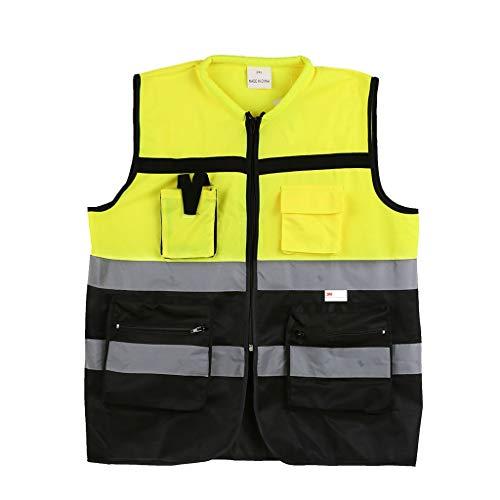 Mjd Sicherheitswesten Visibility-Westen-Weste Sicherheits-Arbeitskleidung Weste Motorrad Sichtbarkeit Weste Warnung Tag Sichtbarkeit Weste (Größe : XL) -