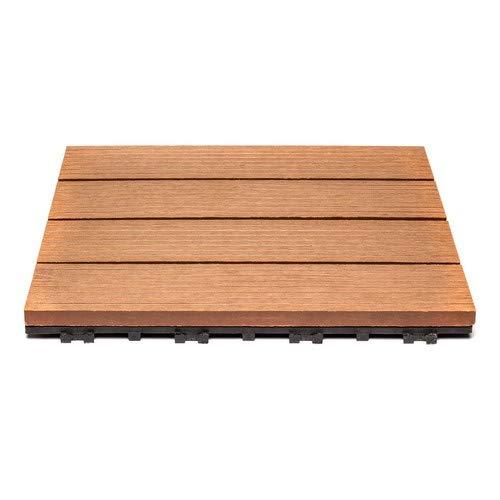 11er Spar-Set f/ür 1m/² Bodenbelag Garten klick-Fliese FSC/®100/% SAM Terrassenfliese 02 Akazienholz Drainage 30x30 cm