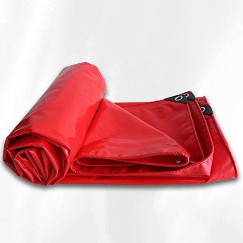 CZWYF Dickere Plane im Freien, wasserdichter Sonnenschutz, geeignet für große Geräteabdeckung, rot -0,35 mm (Size : 2x1.5m) - Im Freien Rot-gewebe