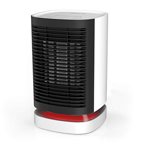 PAVLIT Calefactor Eléctrico Cerámico, Modo Calefacción, 950W, Color Blanco-Negro, Mini Termoventilador Portátil para Estudio, Despacho, Oficina, Dormitorio.