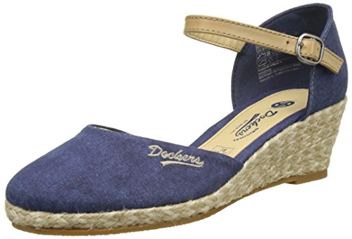 Dockers by Gerli Damen 36IS201-706 Slingback, Blau (Dunkelblau 670), 38 EU