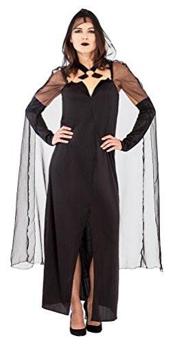 ,Karneval Klamotten' Kostüm schwarze Königin der Nacht schwarze Witwe Halloween Damen Karneval Horror mystisches Damenkostüm Größe 36/38