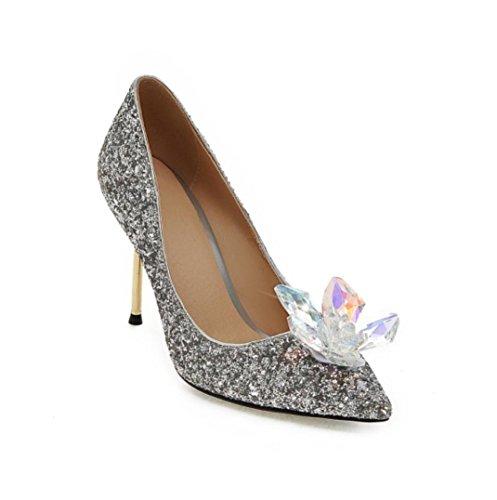 Da donna / Per bambina-Tacchi-Matrimonio / Formale / Serata e festa-Tacchi / Innovativo / Modelli / A punta-A stiletto-Materiali Silver