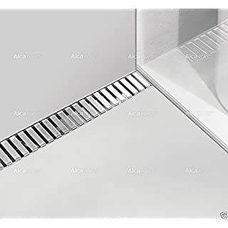 Alcaplast APZ4 Flexible Floor Drainage Channel Shower Drain with Stainless Steel Grate 31.50
