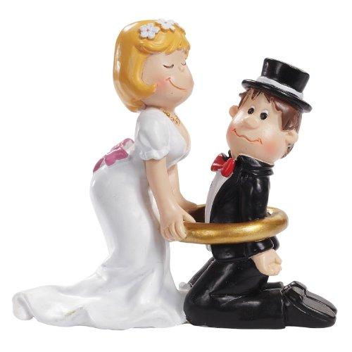 Hochzeitspaar mit Ring - Tortenaufsatz, Tischdeko -