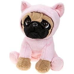 Carlino de peluche con disfraz de animales, perro de peluche con diferentes verkleidungen 20cm