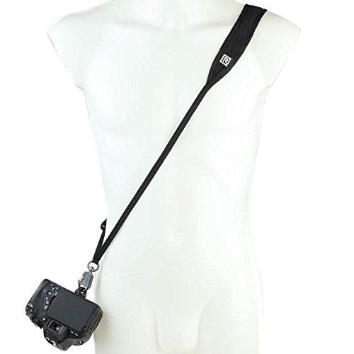 Blackrapid R-Strap Street Breathe Black - schlanker Sling-Kameragurt für kleine DSLRs und spiegellose Systemkameras Street Sling