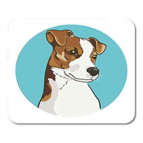 Mausunterlage Entzückender Jack Russell Terrier des Hundetier-athletischen defekten Mousepad für Notizbücher, Tischrechner Mauspads -