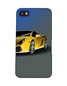 Mobifry Back case cover for BlackBerry Z10 Mobile ( Printed design)