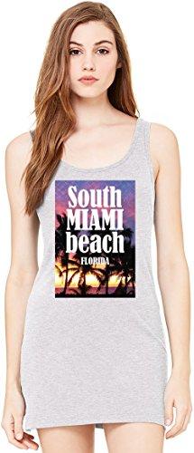 South Miami Beach Florida Bella Basic ärmellose Tunika Sleeveless Tunic Tank Dress For Women| 100% Premium Cotton| Small (South Drapieren)