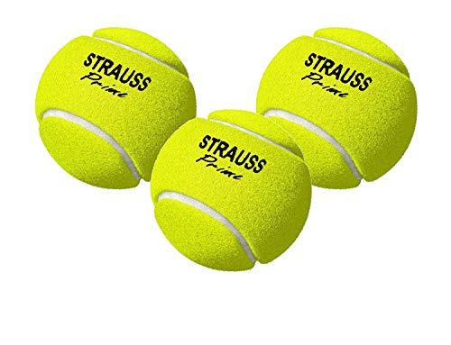 Strauss ST-1548 Rubber Light Weight Cricket Ball, Pack of 3 (Yellow)