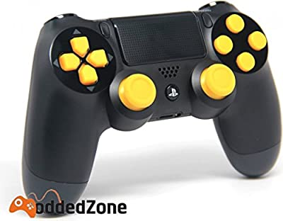 PS4 Black/Yellow Rapid Fire Modded Controller for COD Black Ops3, Infinity Warfare, AW, Destiny, Battlefield: Quick Scope, Drop Shot, Auto Run, Sniped Breath, Mimic, More