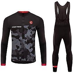 Uglyfrog 2018 Invierno Hombres Ropa ciclismo Maillot Mangas Largas Camiseta de Ciclistas + Bib Pantalones de Bicicletas Bodies Triatlón Ropa MZ01