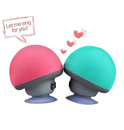 shot case altoparlante fungo bluetooth per alcatel a5led smartphone ventosa altoparlante micro mini rosa