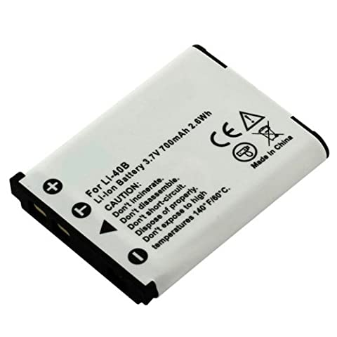 Premium Batterie pour Olympus Li-40B, Li 42B, Fuji NP-45(700mAh/2,6Wh)