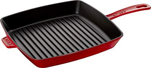 Staub 40501-111-0 - Sartén parrilla hierro fundido, apta para inducción, 30 cm, color rojo
