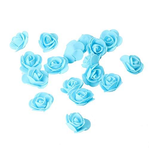 3.5cm Gefälschte Foam Rose Künstliche Blumen-Partei-Dekor (Sky Blue) ()