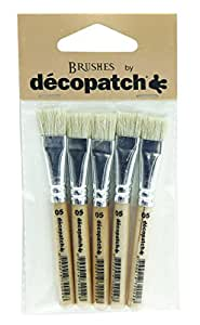 Decopatch Silk Brushes, Pack of 5