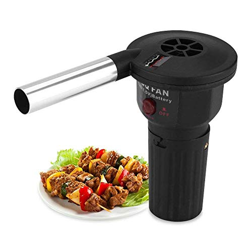 Low Noise Powered BBQ Fan Air Gebläse für Outdoor Camping Picknick Holzkohle-Grill Barbecue ()