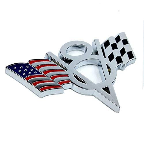 3D Metal V8 Bandiera degli Stati Uniti Moto Car Sticker Logo Distintivo dell'emblema Car Styling per Fiat BMW Ford Lada Audi Opel Skoda Toyota Volvo VW