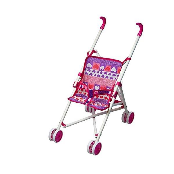 Baby Cuddles Pink Kids Dolls Pushchair Toy buggy 1