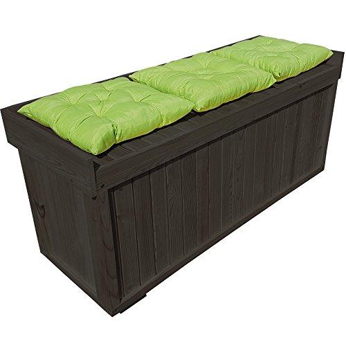 proheim Auflagen-Box mit Sitz aus 100% FSC Holz stabile Universal-Box Kissen-Box Sitzbank (1225 x 560 x 415 mm (L x H x T), Anthrazit) - 2