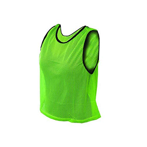 Amber Athletic Gear Pinnie Adult Scrimmage Mesh (Set of 12), Lime Green, MB-A