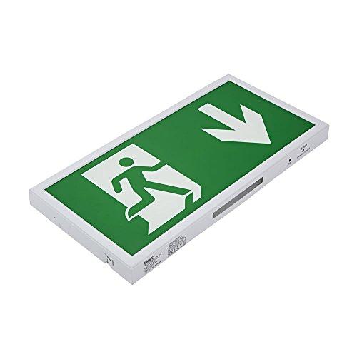 Biard 5W LED Fluchtwegleuchte Slim - Dauerschaltung oder Betriebsschaltung - Pfeil Nach Unten -