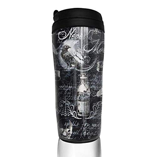 Travel Coffee Mug Halloween 12 Oz Spill Proof Flip Lid Water Bottle Environmental Protection Material ABS