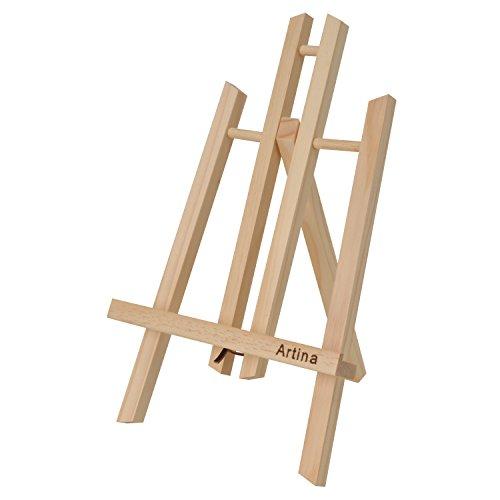 Artina Manchester Tisch-Staffelei klein aus Holz 28cm für Künstler, Einsteiger, Kinder, Deko & Präsentationsstaffelei