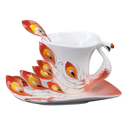 Kreative Emaille Kaffeetasse und Untertasse Keramik Kaffeetasse Teeservice Tasse und Tasse A 200ml