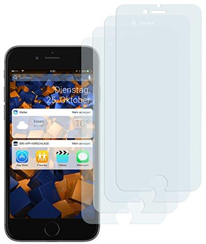mumbi 4 x Displayschutzfolie für iPhone 8 Plus / 7 Plus Folie Schutzfolie