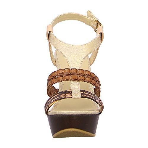 BULLBOXER 282003 BROWN, Sandali donna Marrone (brown/platinum/brown)