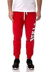 Pyrex - Unisex Men Women Regular Fit Pants Trousers 33304 S Red