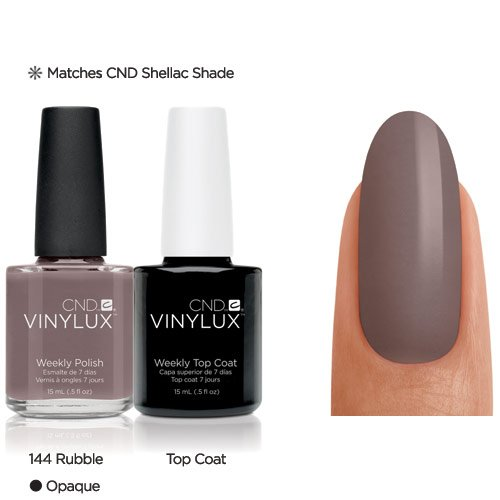 CND Vinylux esmalte de uñas 2 x 15 ml-RUBBLE TOP COAT-end-Screw Productos oficiales