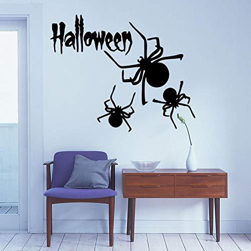 Wohnzimmer Esszimmer Schlafzimmer Kinderzimmer Dekoration Aufkleber Halloween Spinne Abnehmbar Selbstklebend 57X36Cm ()