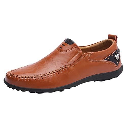 ASHOP Herren Volltonfarbe Runder Kopf Flach Mit Flachem Mund LäSsige Business-Schuhe Faul Einen Fuß Bequem Und Weich Wilde Einzelne Schuhe