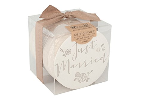Ruff House Art bpc002 Just Married Buchdruck Bulk Papier Drink Untersetzer BOX (Set von 50)