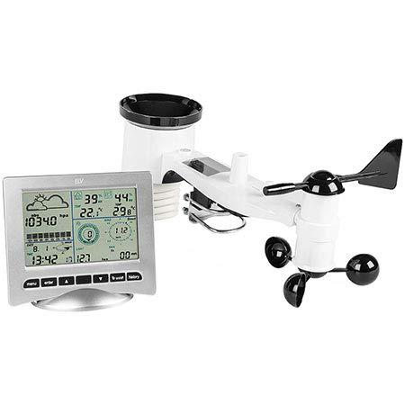 VS-ELECTRONIC - 148160 Wetterstation mit Solarsender und PC-Schnittstelle, 165 mm x 148 mm x 27 mm Abmessungen WS3080 (Usb-wetterstation)