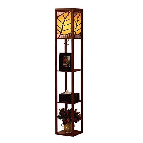 ZXLDD Stehleuchte Regal Nachttischlampe Lichter Wohnzimmer Studie Lampe Bücherregal (Farbe : A) Braunes Bücherregal