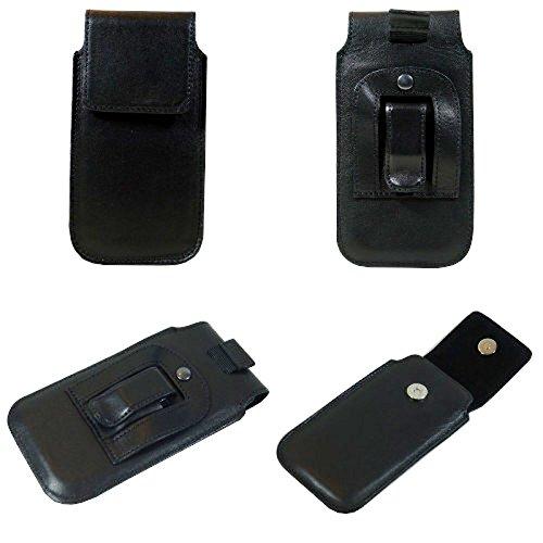 Vertikal Handytasche für Smartphone Lenovo Lemon 3, Echtleder, 169 x 92 x 20mm, schwarz