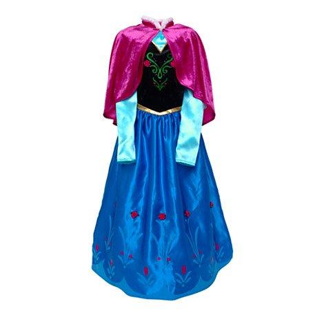 Disney original - Die Eiskönigin - völlig unverfroren - Anna Kinder Kostüm Deluxe - Alter 5 - 6 (Kostüme Barbie Deluxe)