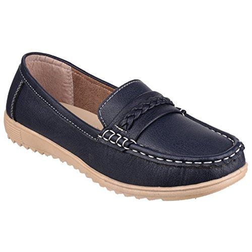 Fleet & Foster Femmes Thames Slip-On Fermeture Loafer Chaussures Mocassins
