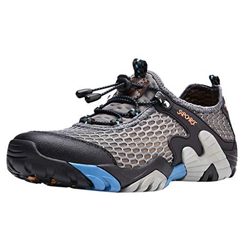 Oyedens Scarpe da Corsa Scarpe Sportive da Uomo Scarpe da Ginnastica Antiscivolo Mesh Round Breathable Running Shoes Scarpe Stringate Uomo Sneakers Espadrillas