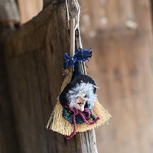 Ankamal Elec Halloween-Hexe-Hängen, Halloween-hängende Dekoration, Halloween-Zubehör (Grün)