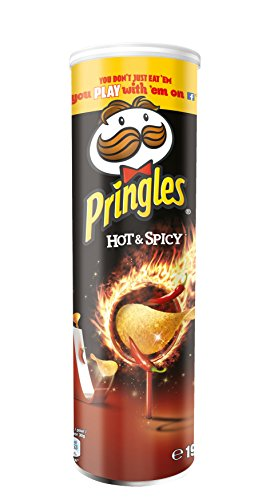 Pringles Chips Hot und Spicy, 4er Pack (4 x 190 g)