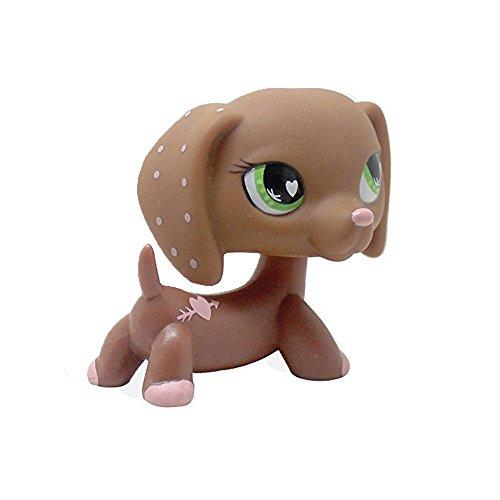dreamsLE_Pet toy store # 556 Rare Pet Shop LPS Spielzeug Rosa Herzen Valentine Dackel Hund Welpen Kind Mädchen Figur Spielzeug Cute Loose Für Kinder Mädchen Jungen (Hintern Amors Pfeil)