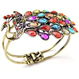 Domire WorldTree Fashion Alloy Color Crystal Peacock Bracelet