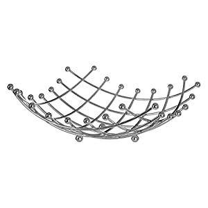 Premier Housewares Lattice Fruit Basket - Chrome